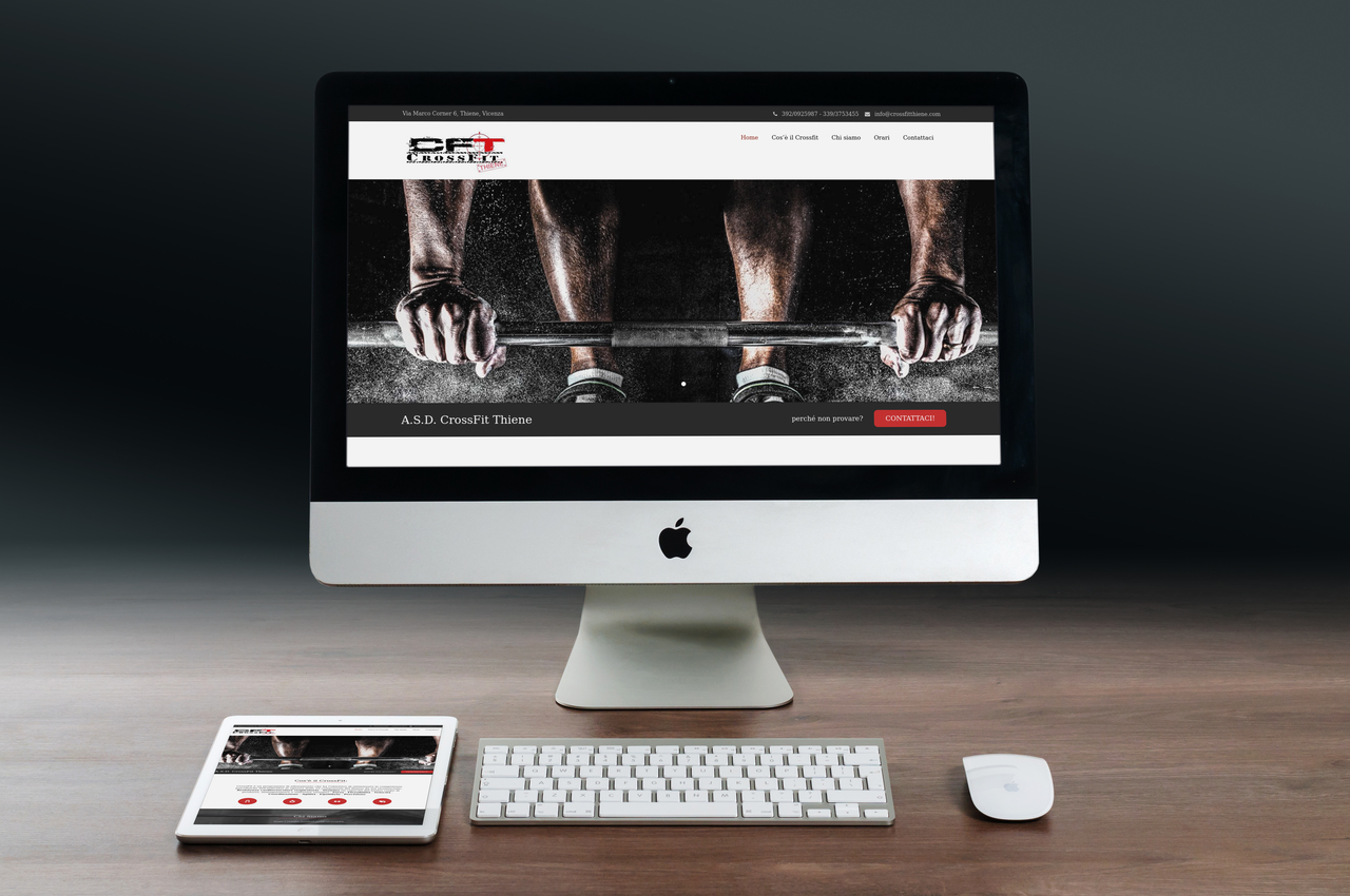 anteprima homepage Crossfit Thiene - sito web by Kina Lab